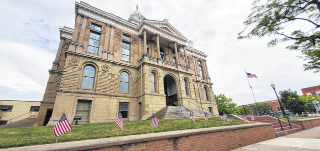 Flags Over Fayette held its second-annual Flags Over Fayette Flag Day celebration on Sunday. It began at the Fayette County Courthouse.