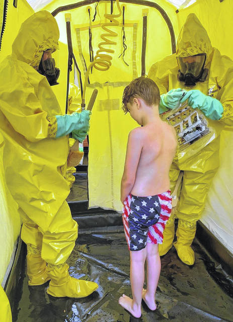On Tuesday, Wayne Township Fire Rescue hosted a county-wide training session at Fayette County Memorial Hospital in relation to decontamination processes.