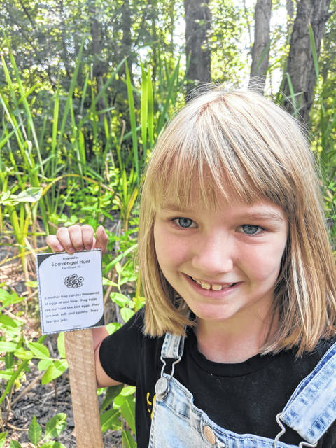 Emma Hill was at the Shaw Wetlands recently taking part in the scavenger hunt.