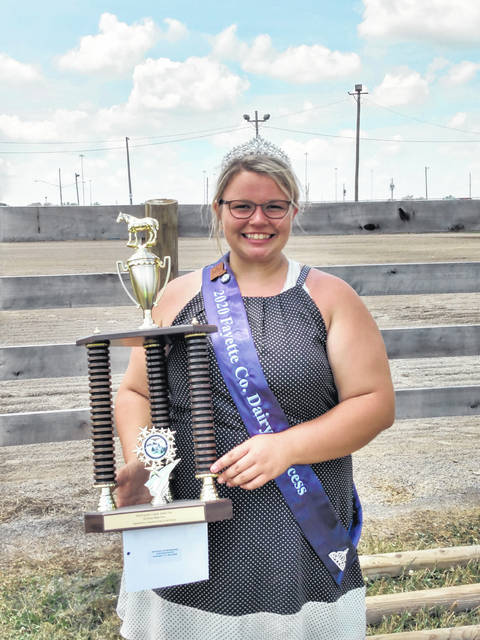 The Walk-Trot Hi-Point trophy winner was Fayette County Dairy Princess Taylor Moore