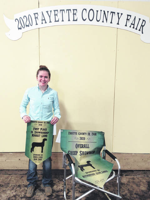 Meghan Cory was named the Overall Sheep Showman during the show on Thursday.