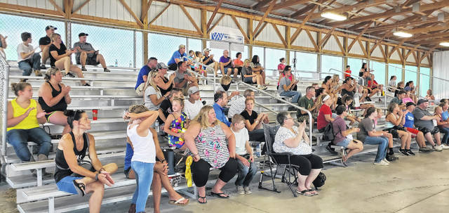 The rabbit showmanship event brought in a decent-sized crowd on Monday morning at the Fayette County Junior Fair. The event was held in the small animal barn.