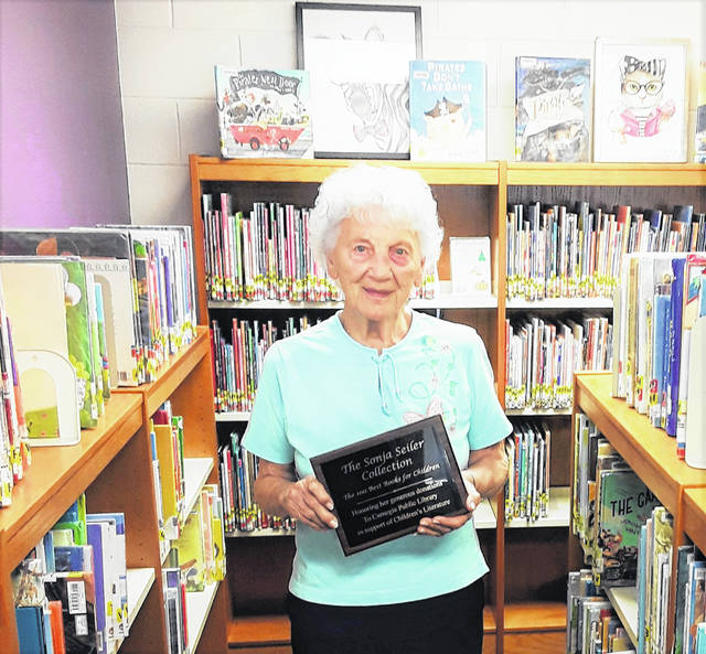 "The Children's Dept. honors Sonja Seiler for her considerable donations by showcasing ""The Sonja Seiler Collection of the 100 Best Books for Children."""