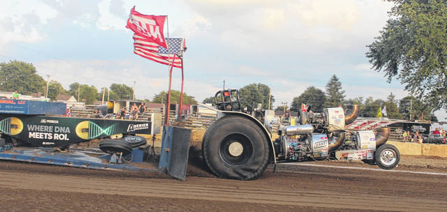 The truck and tractor pull drew a nice crowd to the grandstand at the Fayette County Fair Tuesday, July 21, 2020.