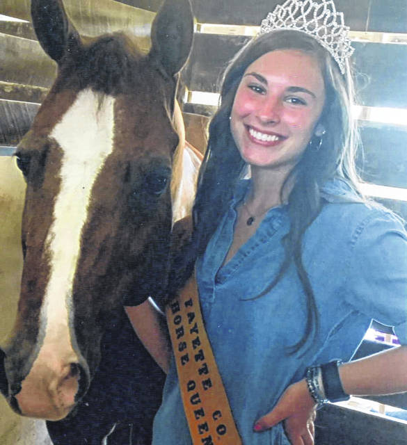 The Fayette County Horse Committee is excited to announce the 2020 Fayette County Horse Queen Madison Johnson. She is the daughter of Heath and Christy Johnson of Bloomingburg. Johnson is currently a junior at Miami Trace High School where she participates in cheer, volleyball and FFA. She is also a member of the All-N-One 4-H Club. Throughout Johnson's 4-H career, she has shown pigs, feeder calves, sheep and horses. She is also currently a member of the Fayette County Junior Fair Board. During Johnson's experiences with 4-H, one of the things that she values the most is spending time with her friends and family not only in the barn preparing all year, but also at the fair. During this time Johnson has learned that success comes along with hard work and dedication. She learned these qualities not only from her family members, but also role models that she looked up to along the way. Now Johnson looks forward to the fact that it is her turn to help younger members have a fun and successful fair. Johnson would like to wish everyone good luck and hopes that everyone enjoys the 2020 Fayette County Fair.