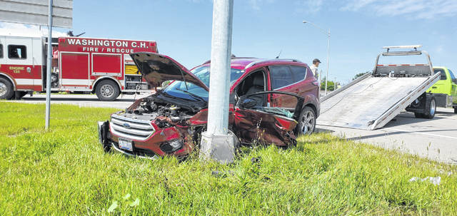 On Monday afternoon, responders reported to a scene where a passenger vehicle had turned in front of a utility truck on US-22 West in Fayette County.