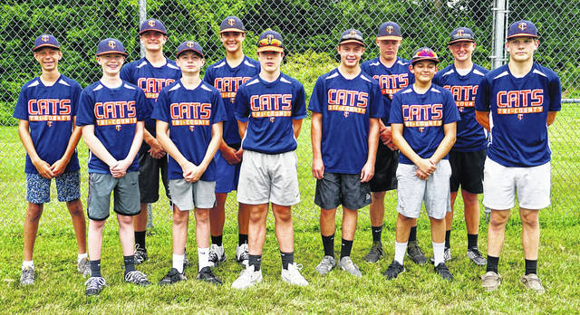 The Tri-County Cats 14U baseball team, comprised of youth primarily from the Washington City Schools and Miami Trace Local School Districts, played a shortened season in the summer of 2020. The boys had a lot of fun playing together this summer, a parent of one of the players said. They played their final two games at Huntington Park, the home of the Columbus Clippers. (l-r); Bryce Yeazel, John Wall, Coleden May, Will Miller, Isaiah Haithcock, Lafe Coleman, Lucas Dunn, Austin Boedeker, Konner May, Brady Armstrong, and Garrett Zimmerman. Not pictured: head coach Brian Yeazel and assistant coaches Ryan May, Brandon Armstrong and Greg Wall.