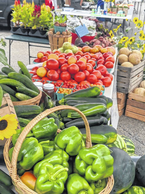 Bridgeview Gardens' harvest bounty at the Wednesday Fayette County Farmers Market.