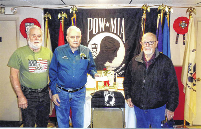 The VFW Post 3762 recently donated to Buckeye Boys State. Pictured (L to R): Glenn Rankin, Bob Malone and Paul Sands.