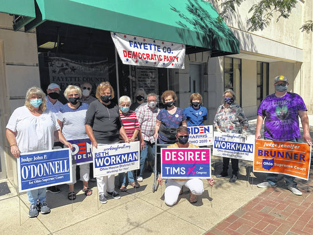 A large crowd recently gathered at the grand opening of the Fayette County Democratic Party's headquarters. The headquarters is located at 142 E. Court St. in Washington Court House. Democratic literature is available at the headquarters.