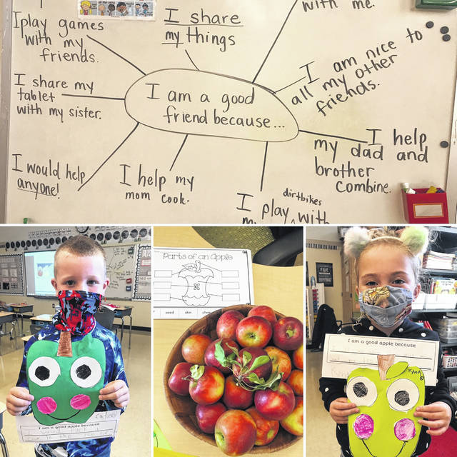 "Last week, Miami Trace Elementary School held its ""Start with Hello"" week to help students be more inclusive and open with each other. In the first grade, the students mixed learning about apples with their celebration of learning about friendship on Friday."