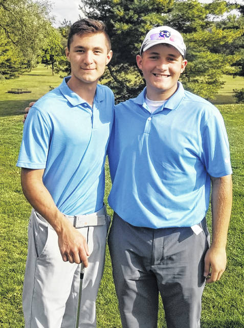 DISTRICT QUALIFIERS — Washington Blue Lion senior Ty Rose, left and freshman Garrett Wahl, qualified to the Division II District golf tournament with their performance at the Sectional Tuesday, Sept. 29, 2020 in Chillicothe.