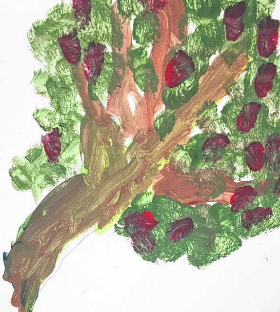 One of the apple trees created by a WCH Cherry Hill Primary (K-2) student.