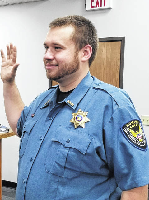 On Monday, Johnny Daugherty Jr. was sworn in as Fayette County's newest deputy humane agent for the Fayette Regional Humane Society.