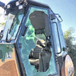 Local small business, machinery vandalized
