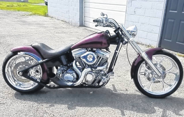 The custom chopper being raffled off for a second time this year is a 2002 Big Dog Pitbull that has essentially been rebuilt with new parts thanks to the assistance of the VFW Riders and local businesses. The raffle is happening as part of the VFW Rider's Post 3762's seventh-annual Warrior Run.