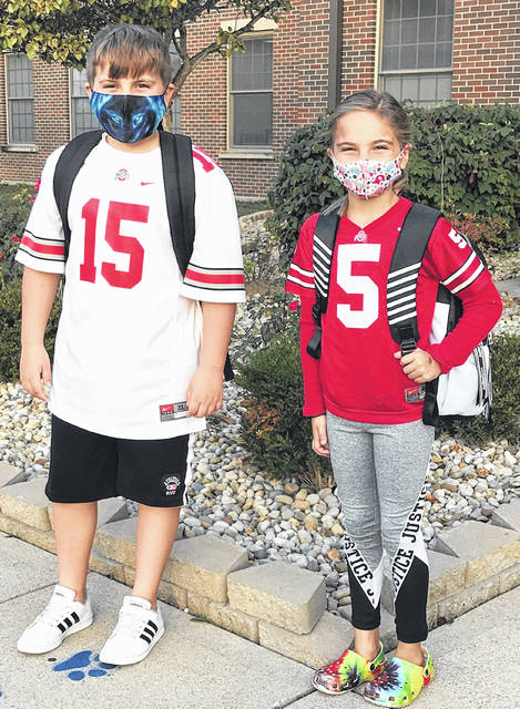 """Spirit week for the WCHCS district, other than Cherry Hill Primary, began on Monday with """"show your college spirit."""" Several Bobcats, Bearcats, and Buckeyes were seen, including with the pictured Belle Aire students! Following Monday, the spirit-themed days for the district, other than Cherry Hill, were """"Camo"""" Tuesday, """"Wild"""" Wednesday, """"Throwback"""" Thursday, and """"Blue and White TROMP TRACE"""" Friday."""