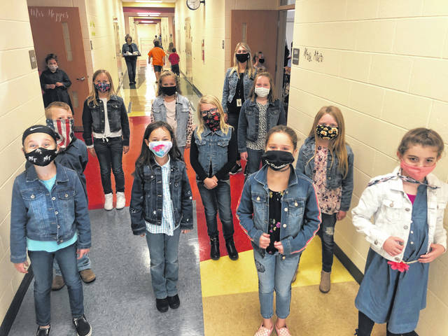 Miami Trace Local Schools celebrated spirit week as they prepared to face their rivals the Washington Court House Blue Lions at Friday's football game. On Wednesday, the third graders celebrated Double Denim day.