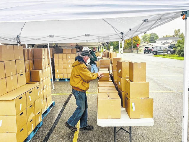 South Side Church of Christ in Washington Court House started its #FeedFayette project with about 10 local churches participating recently and has provided 2,880 boxes of food each week so far.