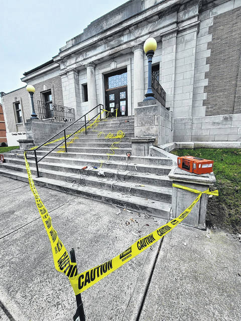 Carnegie Public Library is currently undergoing construction and maintenance to assist in keeping the historical building in usable condition.
