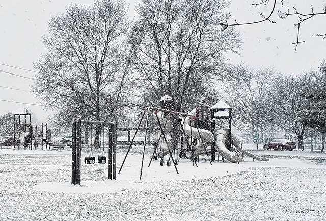 On Wednesday, snow blanketed various parts of Fayette County including Christman Park in Washington Court House.