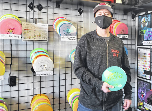"""""""Death Putt Disc Supply,"""" owned by local Jason Stritenberger, is open and ready for business — located at 149 S. Fayette Street in Washington Court House."""