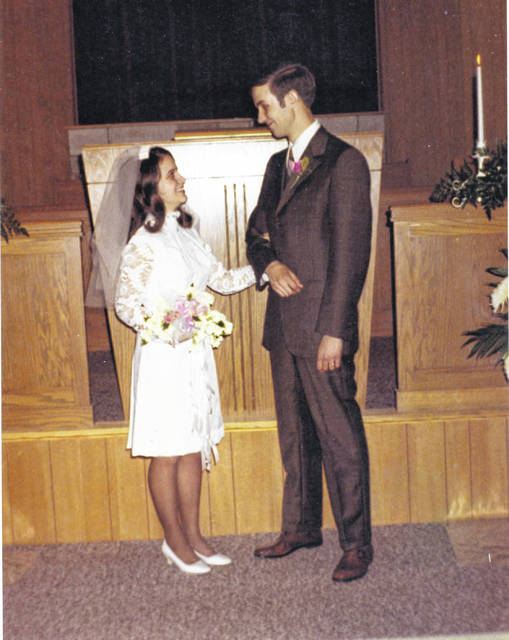 Norman H. and Sherry Zimmerman Thomas when they were married.