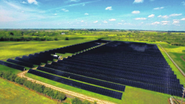 At this time, National Grid Renewables does not have a completed local project, but this photo is one of its projects that has been finished.