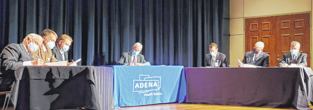 On Monday, a signing event was held in which Adena Health System and Fayette County Memorial Hospital (FCMH) finalized their agreement for FCMH to become a member of Adena effective May 2. Effective Monday, Feb. 15, Adena has assumed operation management of FCMH.