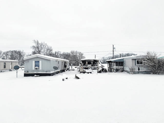 One mobile home was considered a total loss following a Monday evening fire at the corner of Old Route 35 and Bogus Road. Fire also spread to two adjacent mobile homes.