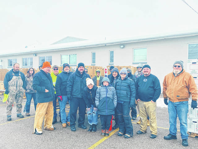 """Despite the heavy snow this week, the """"Feed Fayette"""" project still went forward with many volunteers."""