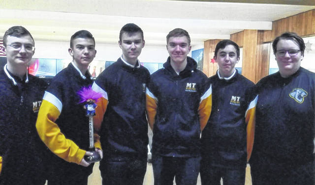 Members of the Miami Trace bowling team are pictured recently. (l-r); Chris Evans, Connor Collins, Jayden Brown, Jake Manbevers, Bryce Stuckey and Brendan Major.
