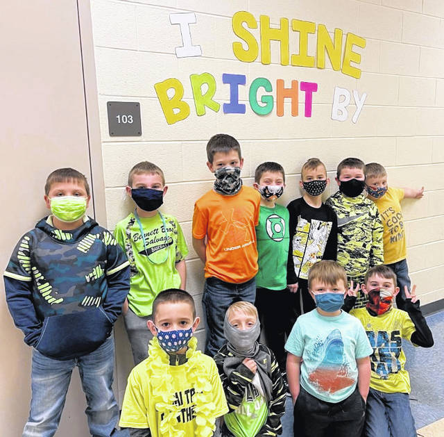 Miami Trace Elementary School students recently participated in The Great Kindness Challenge to spread love and kindness. Pictured are boys from Miss McFarland's homeroom.