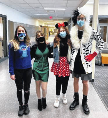 Miami Trace High School and Middle School participated in Spirit Week leading up to the crowning of the Homecoming King and Queen. Though they were unable to hold a dance, students had the chance to dress up and support their school throughout the week. On Thursday, students were asked to dress in a Disney theme. Pictured (L to R): Makenna Mcfadden, Josie Cruea, Kendal Elliott, Kaden Howard.