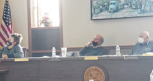 Pictured left-to-right are Washington Court House City Council members, Kendra Redd-Hernandez, Dale Lynch and Jim Chrisman, at a recent council meeting.