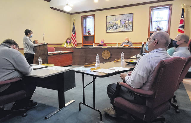 During Wednesday's Washington Court House City Council Meeting, resident Mary Estle reminded council about an issue on Ely Street and also expressed opposition to an ordinance that, if passed, would accept a zoning amendment for skilled gaming.