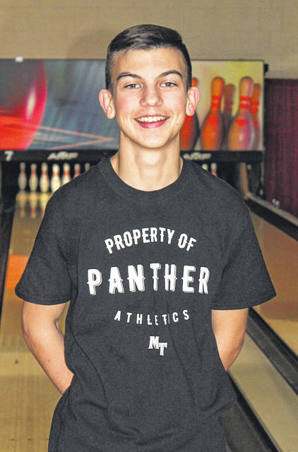 Miami Trace High School junior Connor Collins, above, won the Division I District championship held Feb. 26, 2021 at Sunrise Bowling Center in Zanesville. He bowled a 662 series to place first out of 49 competitors. Collins will compete in the State tournament Saturday at Wayne Webb's Columbus Bowl.