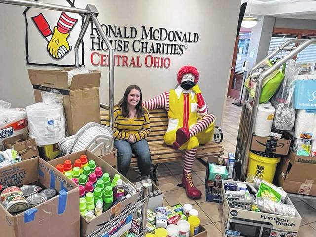 This is the third drive Aubrey has done for the Ronald McDonald House, which she conducts for her birthday.