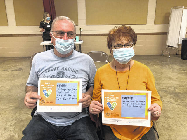 """Roger Garringer celebrated his birthday on Tuesday by getting his second COVID-19 shot. He and his wife Sue shared their """"why"""" for getting the vaccine. Roger wants to get back to normal — to keep his family safe and travel. Sue said she """"got the shot"""" so they can be around their grandchildren and for safer traveling."""