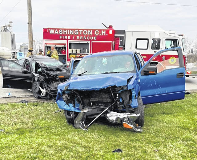 Two young children were injured in a Thursday evening accident involving a 2004 Pontiac Grand Prix and a 2014 Ford F-150.