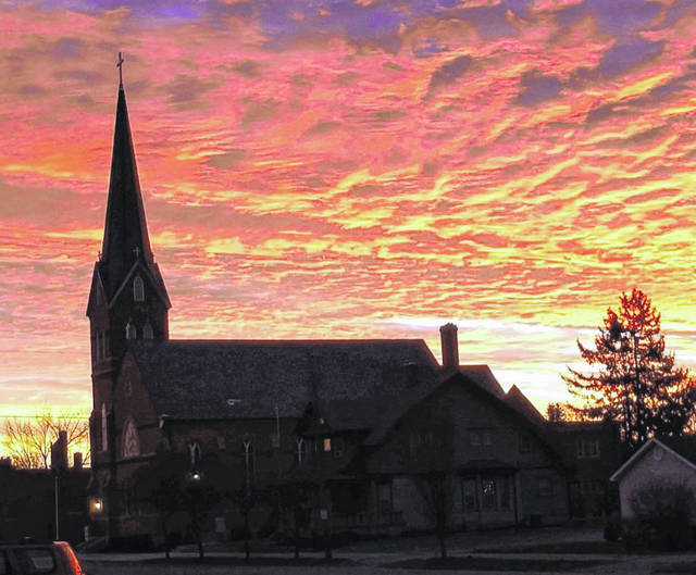 Fayette County Commissioner Dan Dean captured this beautiful sunrise above St. Colman Catholic Church in Washington Court House on Monday morning.