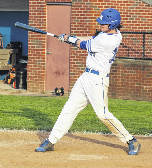 Brayden Howard takes a swing for Washington during a non-conference game against Waverly played Tuesday, April 27, 2021 at Washington High School.
