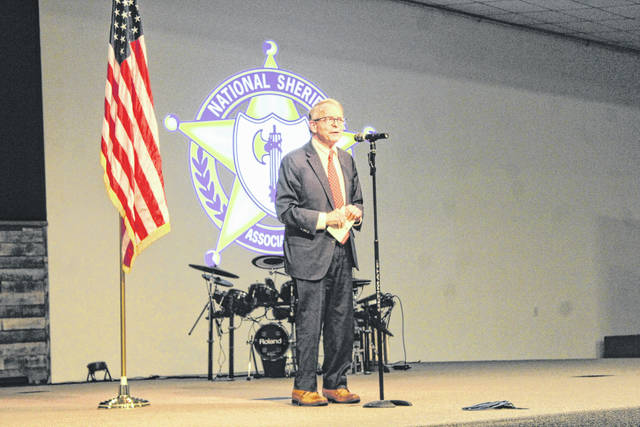 Ohio Governor Mike DeWine was in attendance Sunday to congratulate Stanforth and talk about his integrity.