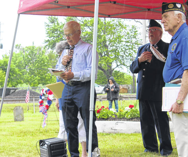The Fayette County Veterans Service Commission, in conjunction with members of the VFW Post 3762 and the American Legion Post 25, held its Memorial Day service on Friday at the Old Pioneer Cemetery behind Dairy Queen. Fayette County Commissioner Jim Garland spoke on behalf of the commissioners and shared his appreciation for the sacrifice of those in the United States Armed Forces.