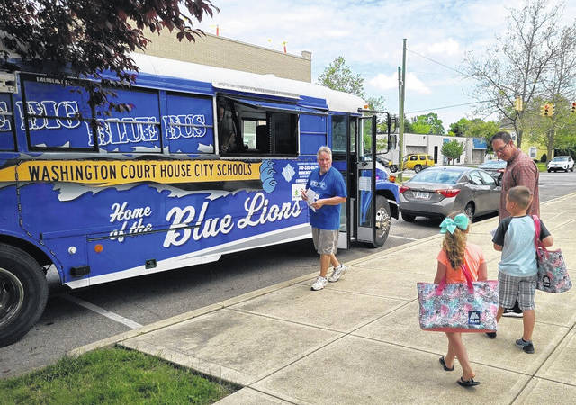The Big Blue Bus ventured out on Monday for the first day of the 2021 Summer Program meal service. One of the stops routinely made is at the Carnegie Public Library in Washington Court House.