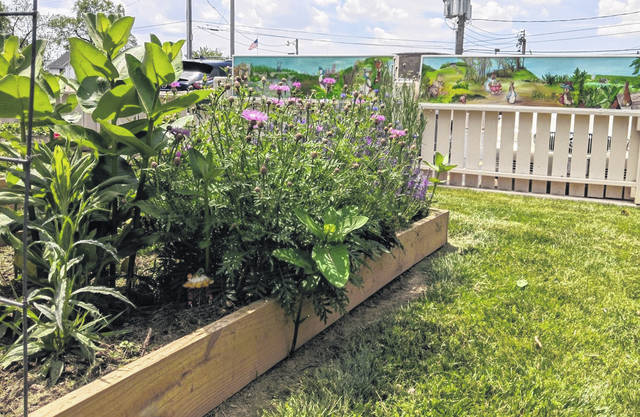 Returning pollinators are growing well already while tomatoes, peppers, and other herbs and vegetables are gaining ground.