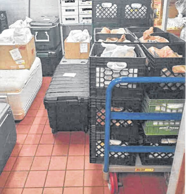 Miami Trace provided Breakfast and lunch meals for students learning virtually by using a drive through delivery service for families to pick up meals.