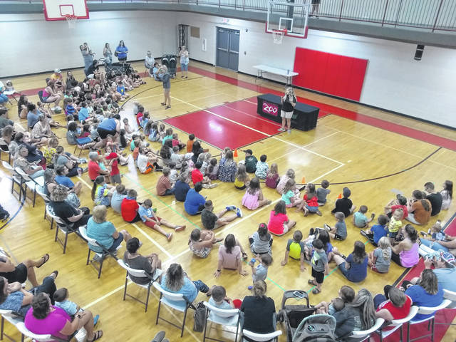 The Carnegie Public Library hosted staff and animals from the Columbus Zoo at the Fayette County Family YMCA with over 225 people, including YMCA day camp participants.