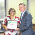 Lanning, staff honored for food initiative