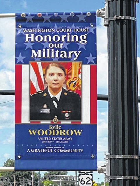 Military banner for Kylie Woodrow.